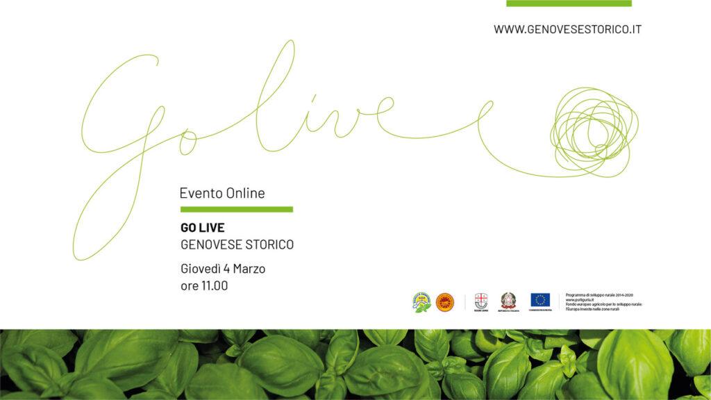 Locandina evento Go Live 4 Marzo 2021